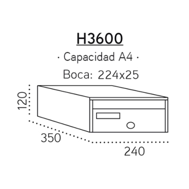 h3600-future antivandalico (medidas)