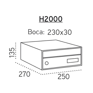 h2000 infinity (medidas)