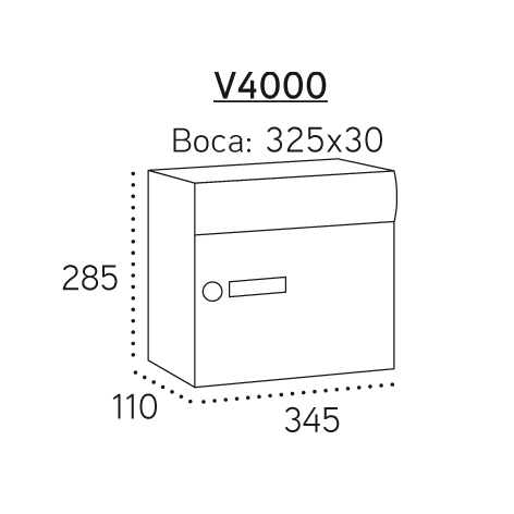 Milenio Vertical Arregui V4000 Medidas.